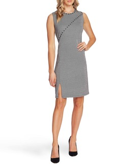 Vince Camuto Studded Herringbone Sheath Dress