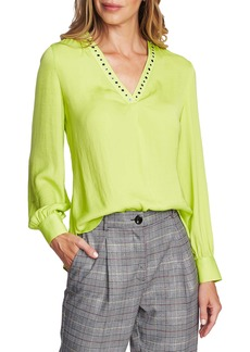 Vince Camuto Studded Rumple Blouse (Regular & Petite)