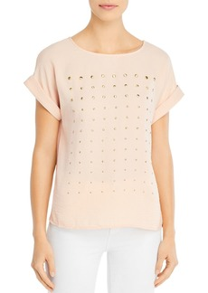 VINCE CAMUTO Studded Short-Sleeve Blouse