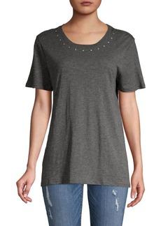 Vince Camuto Studded Short-Sleeve T-Shirt