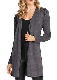 VINCE CAMUTO Studded Shoulder Cardigan