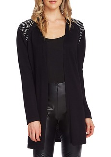Vince Camuto Studded Shoulder Long Cardigan