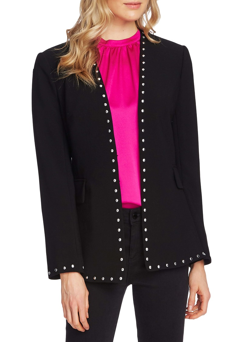 Vince Camuto Studded Stretch Crepe Jacket