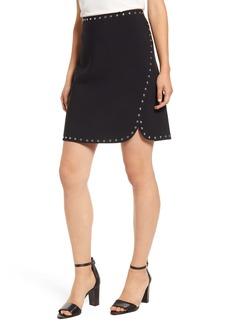 Vince Camuto Studded Stretch Crepe Miniskirt