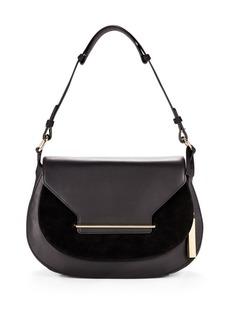 Vince Camuto Suede & Leather Shoulder Bag
