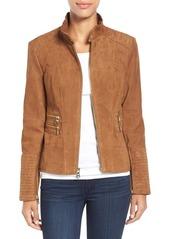 Vince Camuto Suede Zip Front Jacket