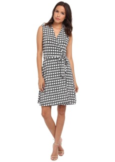 Vince Camuto Swinging Dots Belted Wrap Dress