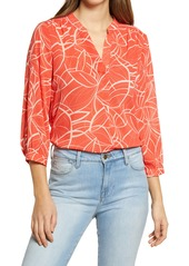 Vince Camuto Swirl Movement Blouse