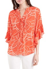 Vince Camuto Swirl Print Top