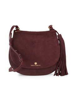 Vince Camuto Tasseled Leather Saddle Bag