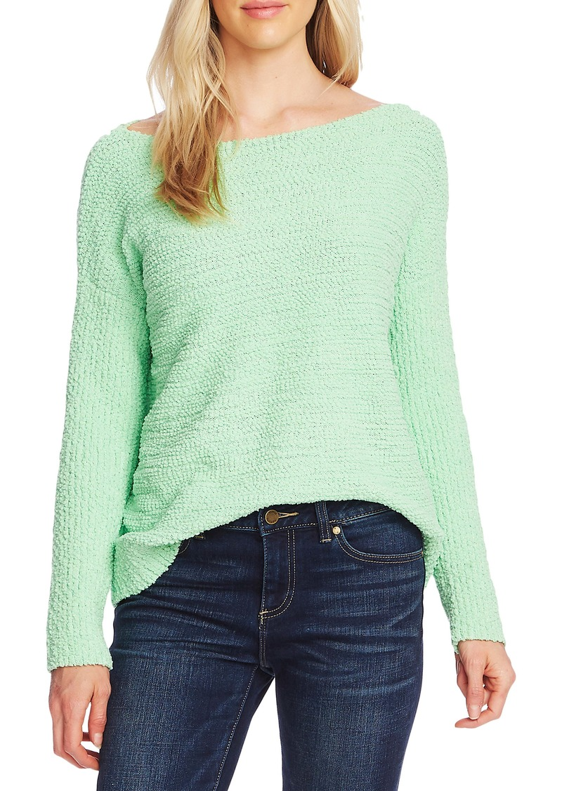 Vince Camuto Teddy Yarn Boat Neck Sweater