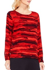 Vince Camuto Textural Muse Print Blouse