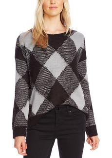 Vince Camuto Textured Argyle Sweater
