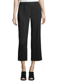 Vince Camuto Textured-Crepe Straight-Leg Cropped Pants