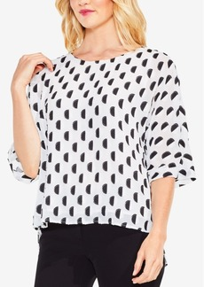 Vince Camuto Textured Dot Top