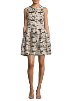Vince Camuto Glitter Fit-&-Flare Dress