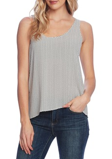 Vince Camuto Textured Fragments Print Tank Top
