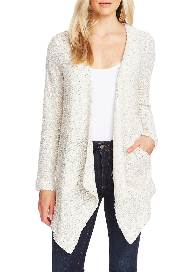 Vince Camuto Textured Knit Open Front Cardigan