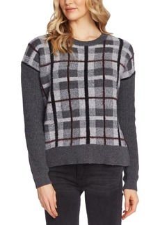 Vince Camuto Textured Plaid Sweater