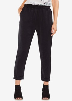 Vince Camuto Textured Pull-On Slim-Leg Pants