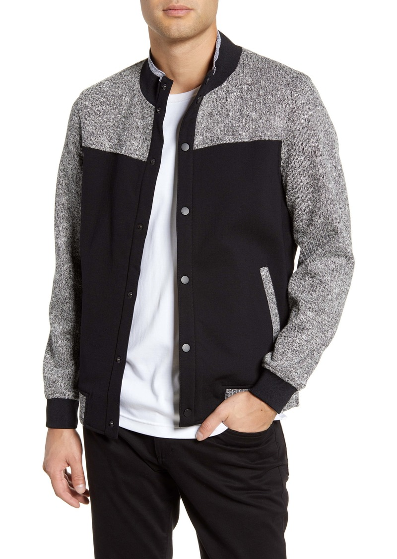 Vince Camuto Textured Slim Fit Bomber Jacket