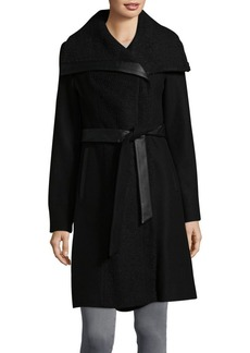 Vince Camuto Textured Wrap Coat