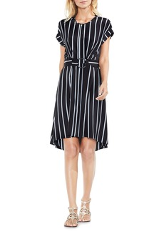 Vince Camuto Theory Stripe Belted Dress