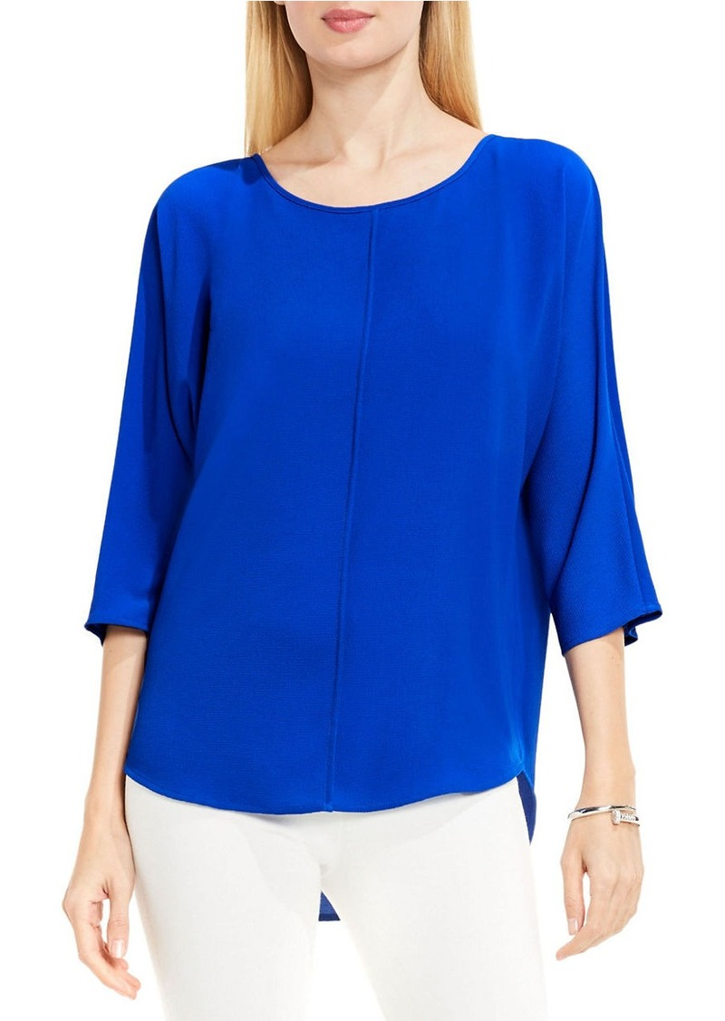 VINCE CAMUTO Three-Quarter Sleeve Front Seam Blouse