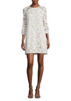Vince Camuto Three-Quarter-Sleeve Lace Shift Dress