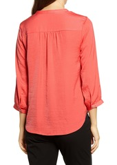Vince Camuto Three Quarter Sleeve Popover Top