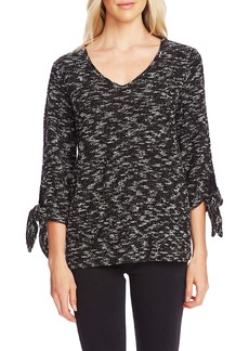 Vince Camuto Tie Cuff Nubby Sweater