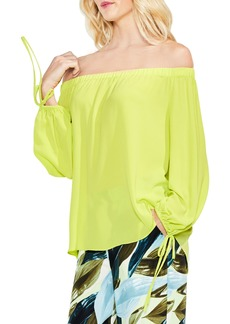 VInce Camuto Tie-Cuff Off the Shoulder Blouse