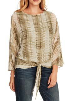 Vince Camuto Tie Dry Tie Front Chiffon Top