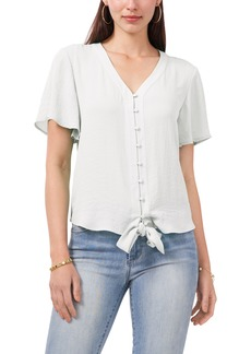 Vince Camuto Tie Front Button-Up Blouse