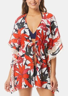 Vince Camuto Tie-Front Caftan Cover-Up Women's Swimsuit