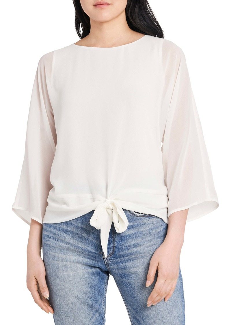 Vince Camuto Tie Front Chiffon Blouse