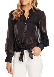 Vince Camuto Tie Front Iridescent Blouse