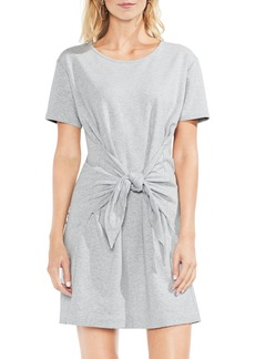 Vince Camuto Tie Front Peached French Terry Dress