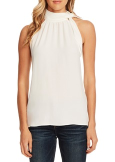 Vince Camuto Tie Mock Neck Sleeveless Top