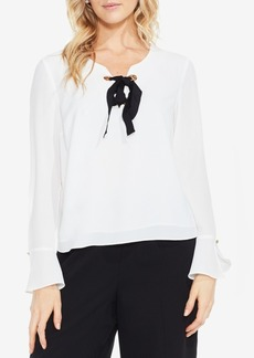 Vince Camuto Tie-Neck Flare-Cuff Top