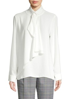 Vince Camuto Tie-Neck Long-Sleeve Top