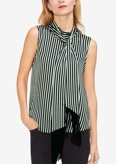 Vince Camuto Tie-Neck Striped Top