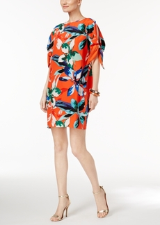 Vince Camuto Tie Sleeve Floral Shift Dress