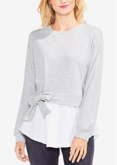 Vince Camuto Tie-Waist Layered-Look Sweatshirt
