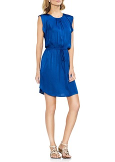 Vince Camuto Tie Waist Rumple Mini Dress