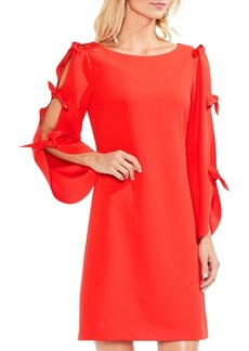 Vince Camuto Tied Bell-Sleeve Crepe Ponte Dress