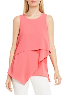 Vince Camuto Tiered Asymmetrical Blouse (Regular & Petite)