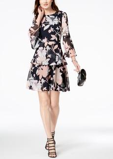 Vince Camuto Tiered Chiffon Dress