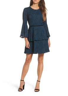 Vince Camuto Tiered Chiffon Fit & Flare Dress