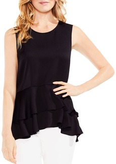 VINCE CAMUTO Tiered-Peplum Top